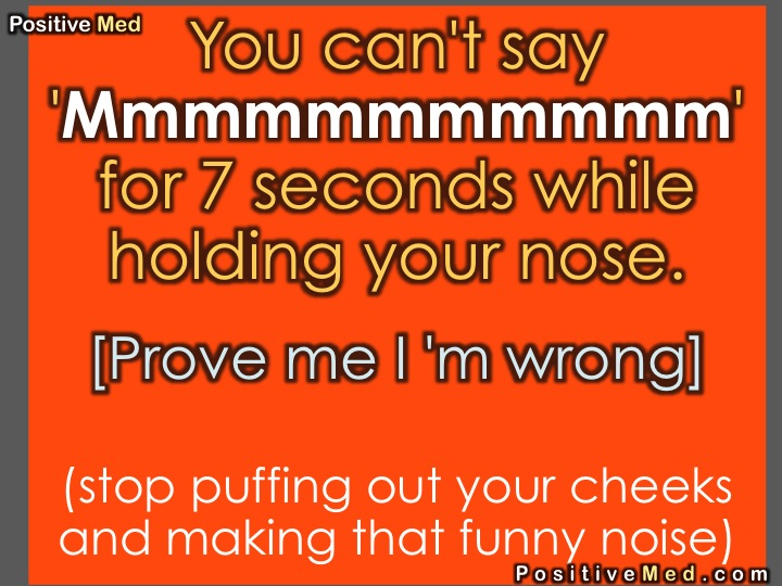 You can't say 'Mmmm' for 7 seconds