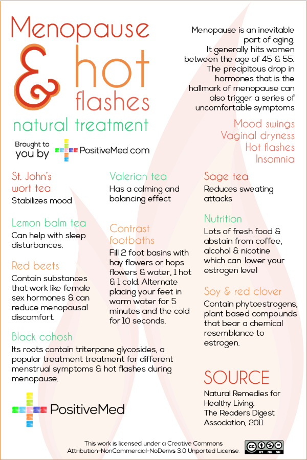 Menopause and Hot Flashes:  Natural Treatment