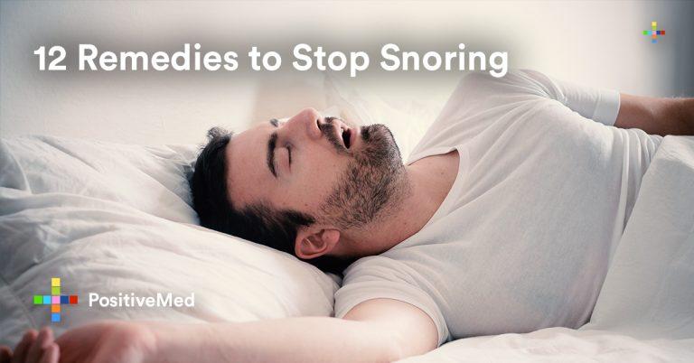 12 Remedies to Stop Snoring