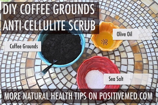Coffee Grounds Scrub for Cellulite