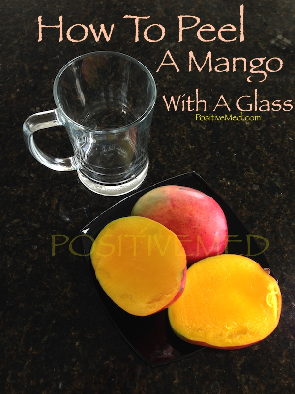 How To Peel A Mango With A Glass
