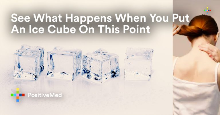 See What Happens When You Put An Ice Cube On This Point