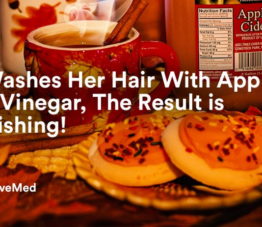 She Washes Her Hair With Apple Cider Vinegar, The Result is Astonishing!