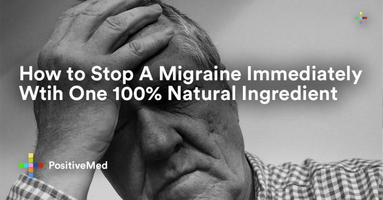 How to Stop A Migraine Immediately With One 100% Natural Ingredient