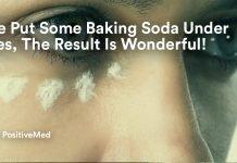 She Put Some Baking Soda Under Eyes, The Result Is Wonderful.