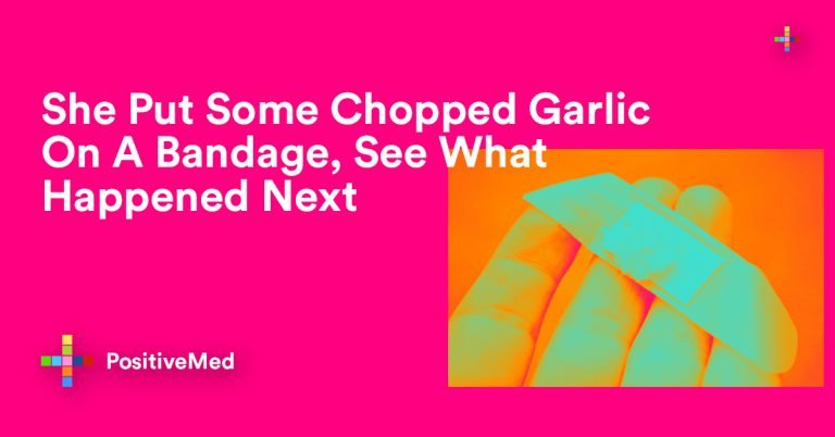She Put Some Chopped Garlic On A Bandage,  See What Happened Next