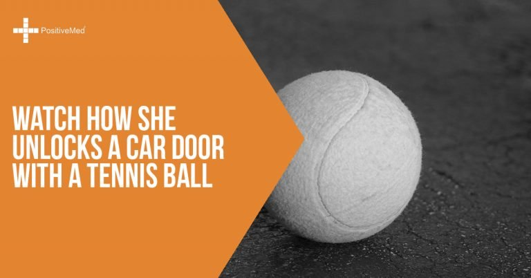 Watch How She Unlocks a Car Door With a Tennis Ball