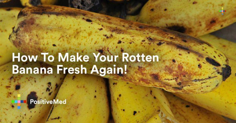 How To Make Your Rotten Banana Fresh Again!
