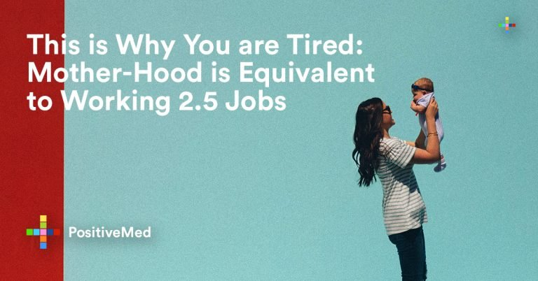This is Why You are Tired: Mother-Hood is Equivalent to Working 2.5 Jobs