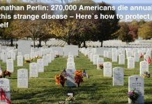 Dr. Jonathan Perlin: 270,000 Americans Die Annually from this Strange Disease – Here's how to Protect Yourself
