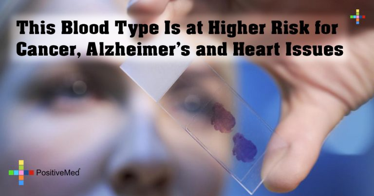 This Blood Type Is at Higher Risk for Cancer, Alzheimer's and Heart Issues