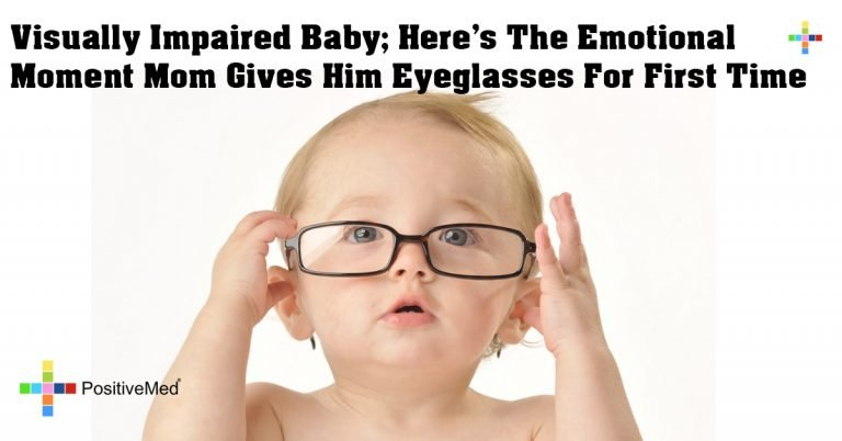 Visually Impaired Baby; Here's The Emotional Moment Mom Gives Him Eyeglasses For First Time