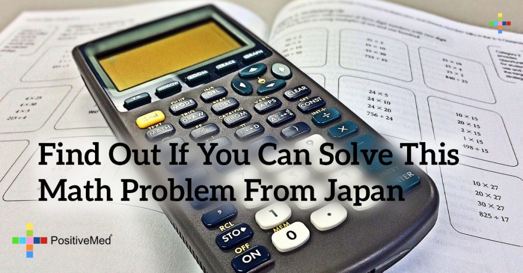 Find Out if You Can Solve this Math Problem From Japan