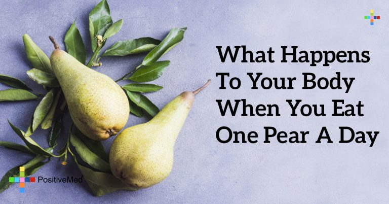 What Happens To Your Body When You Eat One Pear A Day