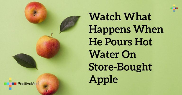 Watch What Happens When He Pours Hot Water On Store-Bought Apple