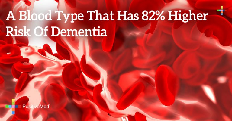 A Blood Type That Has 82% Higher Risk of Dementia