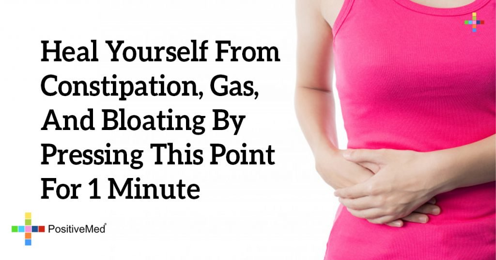 Heal Yourself From Constipation, Gas, And Bloating By Pressing THIS Point For 1 Minute