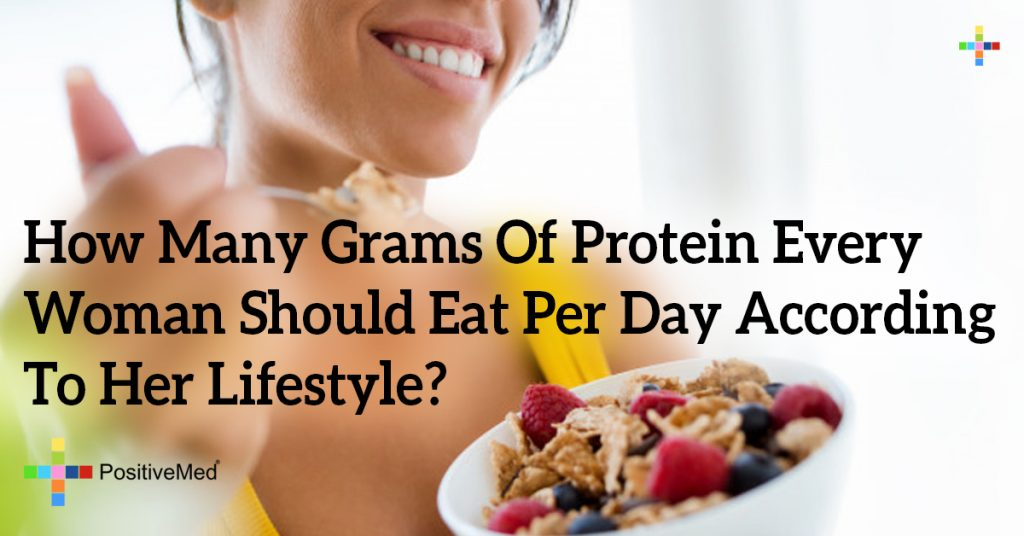 How Many Grams Of Protein Every Woman Should Eat Per Day According To Her Lifestyle?