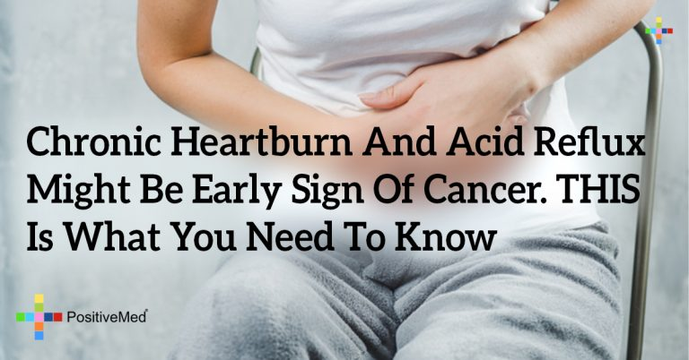 Chronic Heartburn And Acid Reflux Might Be Early Sign Of Cancer. THIS Is What You Need To Know