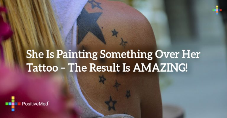 She Is Painting Something Over Her Tattoo – The Result Is AMAZING!