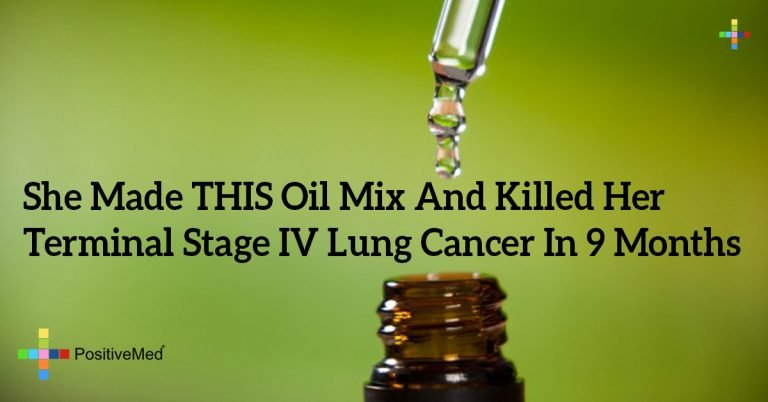 She Made THIS Oil Mix And Killed Her Terminal Stage IV Lung Cancer In 9 Months