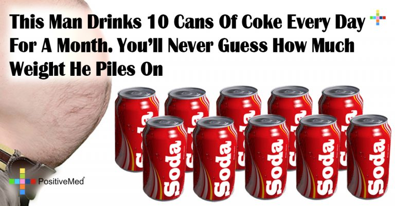 This Man Drinks 10 Cans Of Coke Every Day For A Month. You'll Never Guess How Much Weight He Piles On