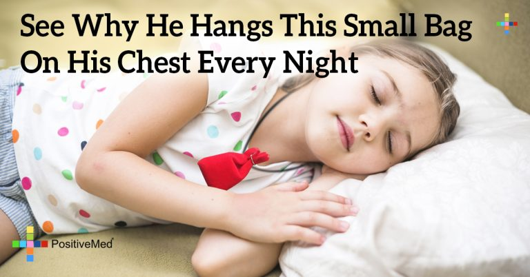 See Why He Hangs This Small Bag On His Chest Every Night