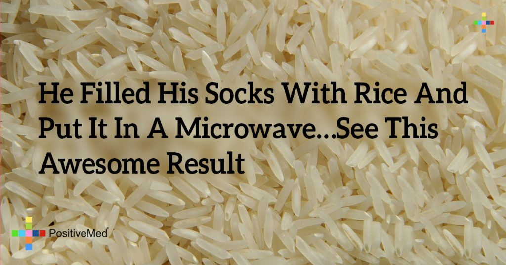 He Filled His Socks With Rice And Put It In A Microwave…See This Awesome Result