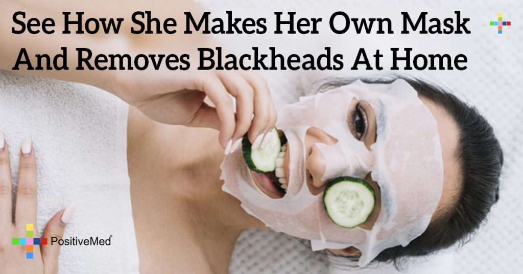 See How She Makes Her Own Mask And Removes Blackheads At Home