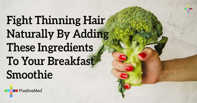 Fight Thinning Hair Naturally By Adding These Ingredients To Your Breakfast Smoothie