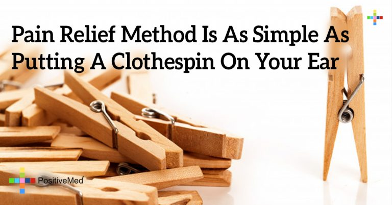 Pain Relief Method Is As Simple As Putting A Clothespin On Your Ear