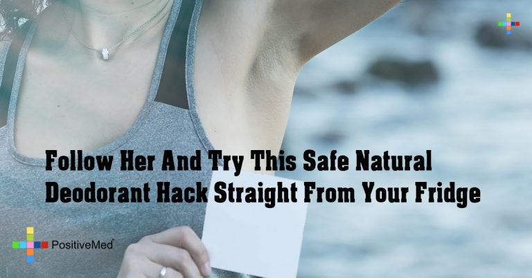 Follow Her And Try This Safe Natural Deodorant Hack Straight From Your Fridge