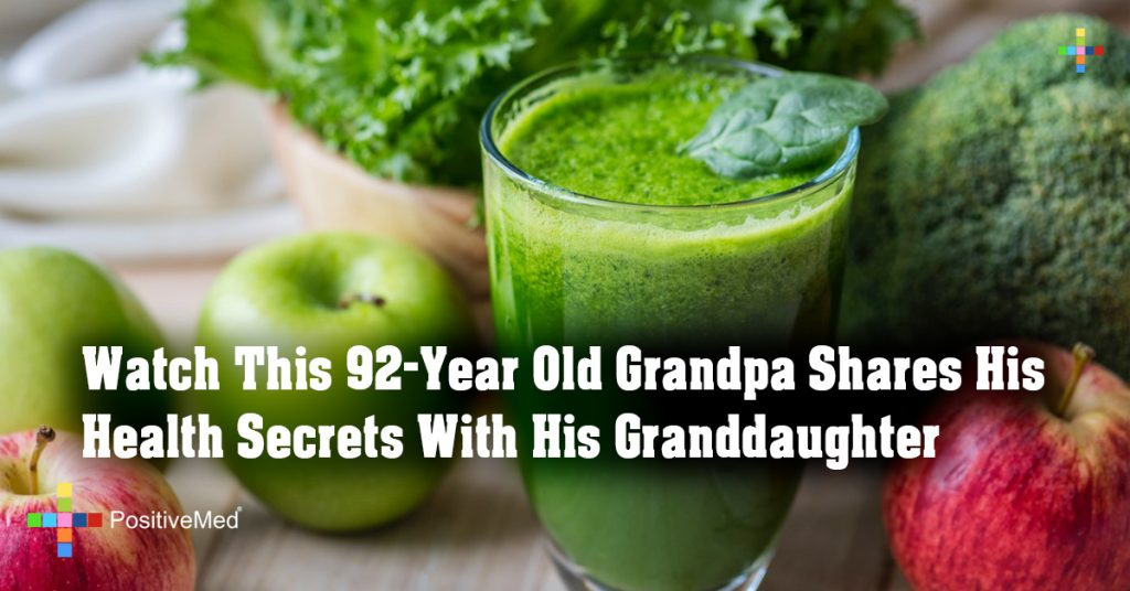 Watch This 92-Year Old Grandpa Shares His Health Secrets With His Granddaughter