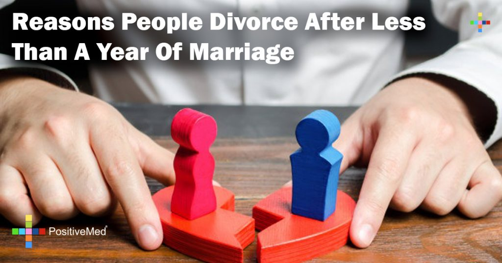 Reasons People Divorce After Less Than A Year Of Marriage