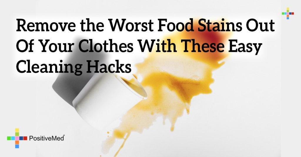 Remove the Worst Food Stains Out Of Your Clothes With These Easy Cleaning Hacks