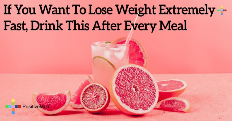 If You Want To Lose Weight Extremely Fast, Drink This After Every Meal