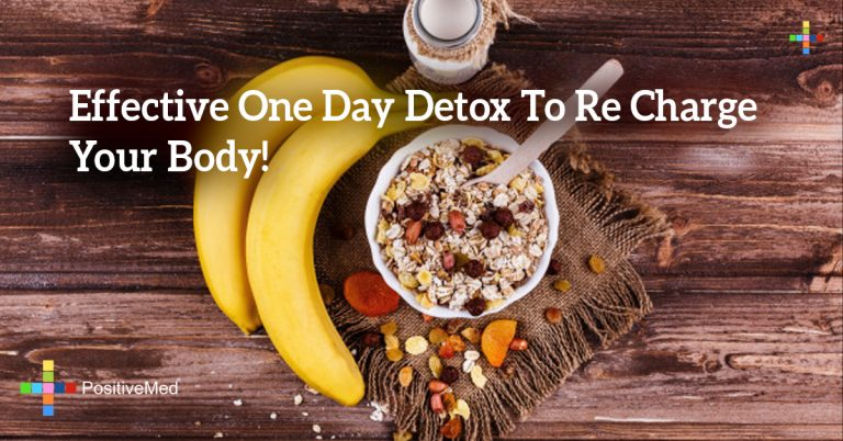 Effective One Day Detox To Re Charge Your Body!