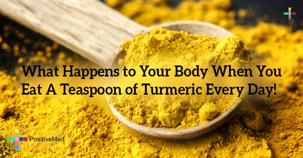 What Happens to Your Body When You Eat A Teaspoon of ‪Turmeric‬ Every Day!