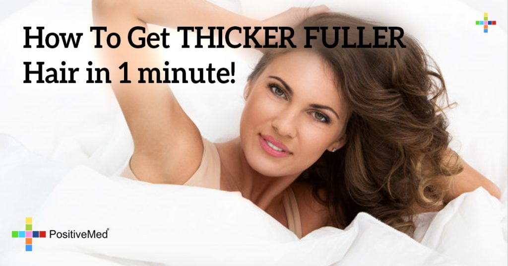 How To Get THICKER FULLER Hair in 1 minute!
