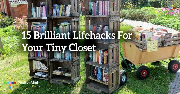 15 Brilliant Lifehacks For Your Tiny Closet