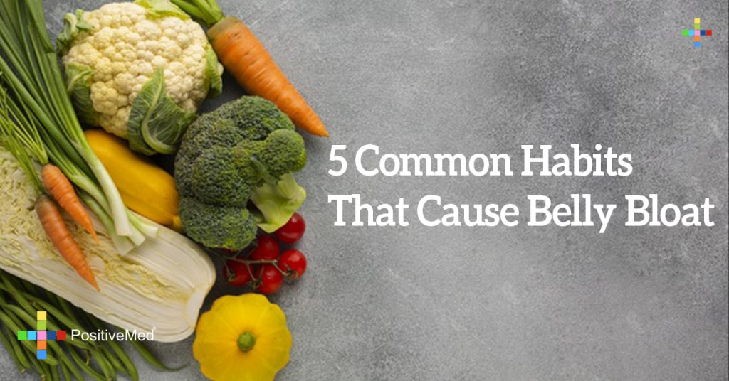 5 Common Habits That Cause Belly Bloat