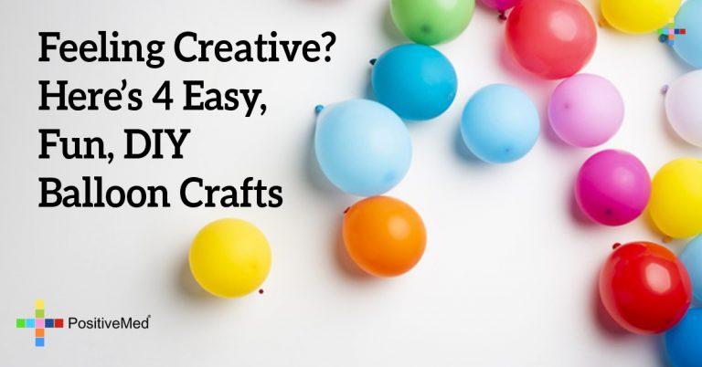 Feeling Creative? Here's 4 Easy, Fun, DIY Balloon Crafts