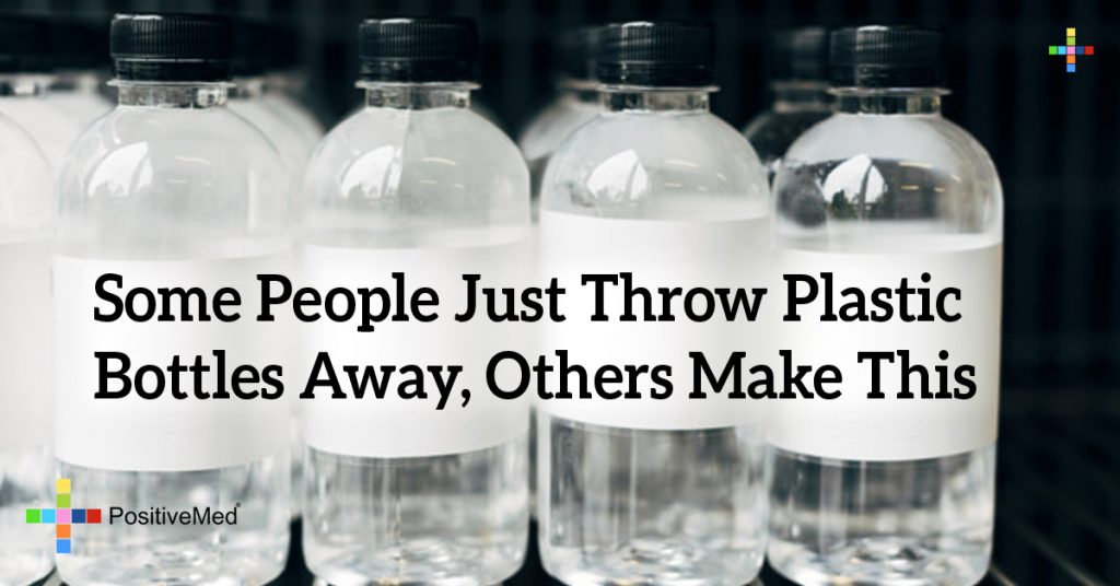 Some People Just Throw Plastic Bottles Away, Others Make This