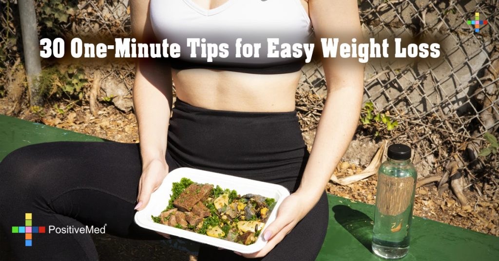 30 One-Minute Tips for Easy Weight Loss