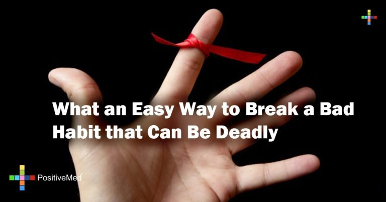What an Easy Way to Break a Bad Habit that Can Be Deadly