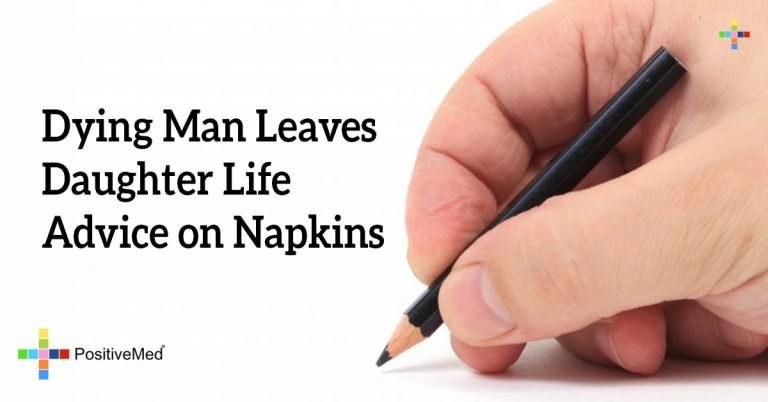 Dying Man Leaves Daughter Life Advice on Napkins