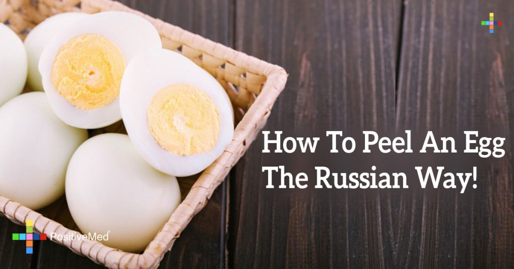 How To Peel An Egg The Russian Way!
