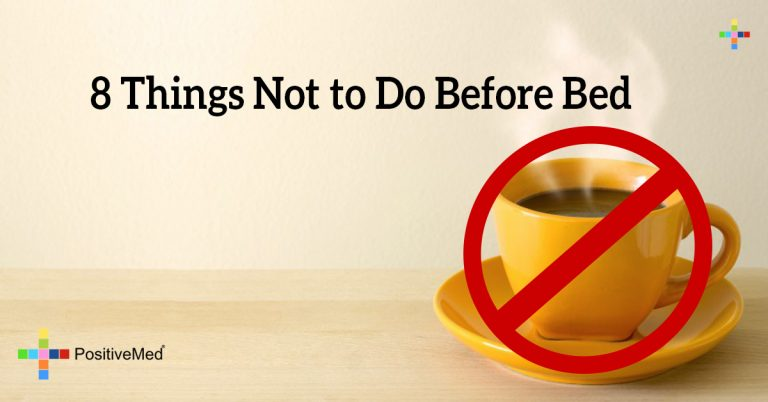 8 Things Not to Do Before Bed