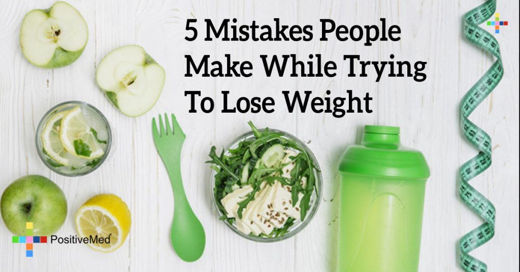 5 Mistakes People Make While Trying to Lose Weight