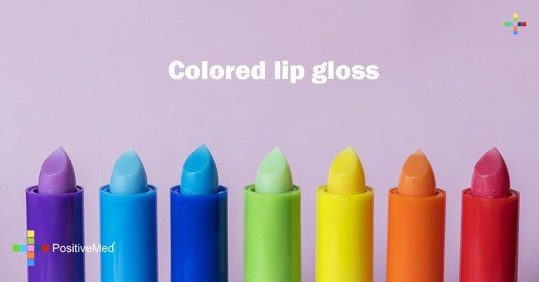 Colored lip gloss